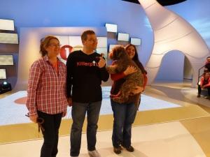 Gruppenbild mit Elton, Marion, Denise und Beppo
